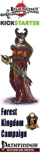 A fantastic collection of adventures, magic, monsters, new rules, and more for fey and forest-themed campaigns using Pathfinder and 5E!